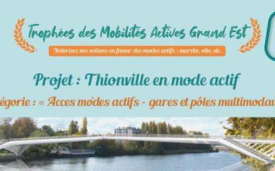 Lauréat des trophées des mobilités actives Grand Est : «Thionville en mode Actif»