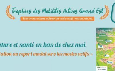 Lauréat des trophées des mobilités actives Grand Est : « Nature et santé en bas de chez moi ! »